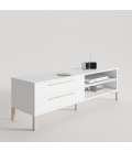 Mueble TV Trendy con pata recta y tirador Line